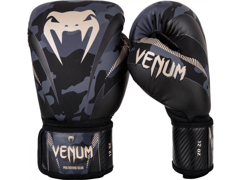 Boxing Gloves Venum Impact Dark Camo/Sand