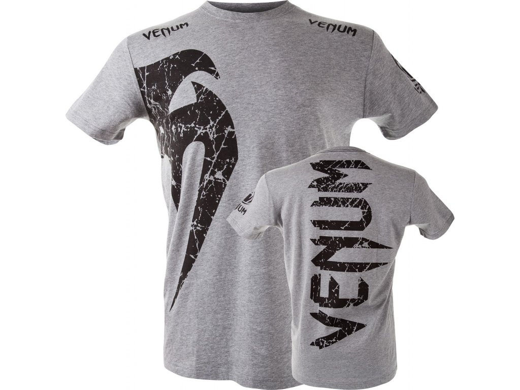 Men's T-shirt Venum Giant - GREY/BLACK