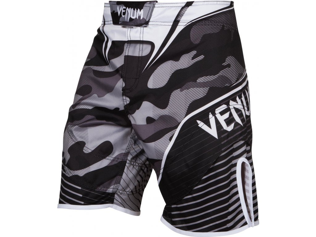 MMA Shorts Venum Camo Hero - WHITE/BLACK