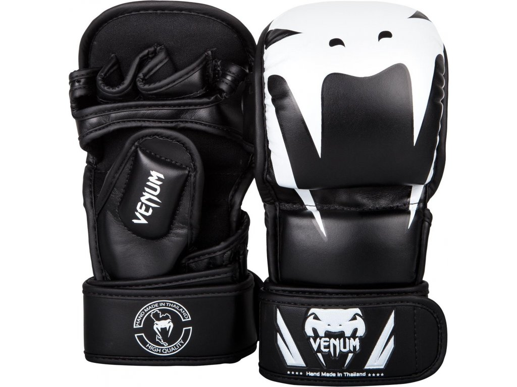 MMA Sparing Gloves Venum Impact Sparring  - BLACK/WHITE