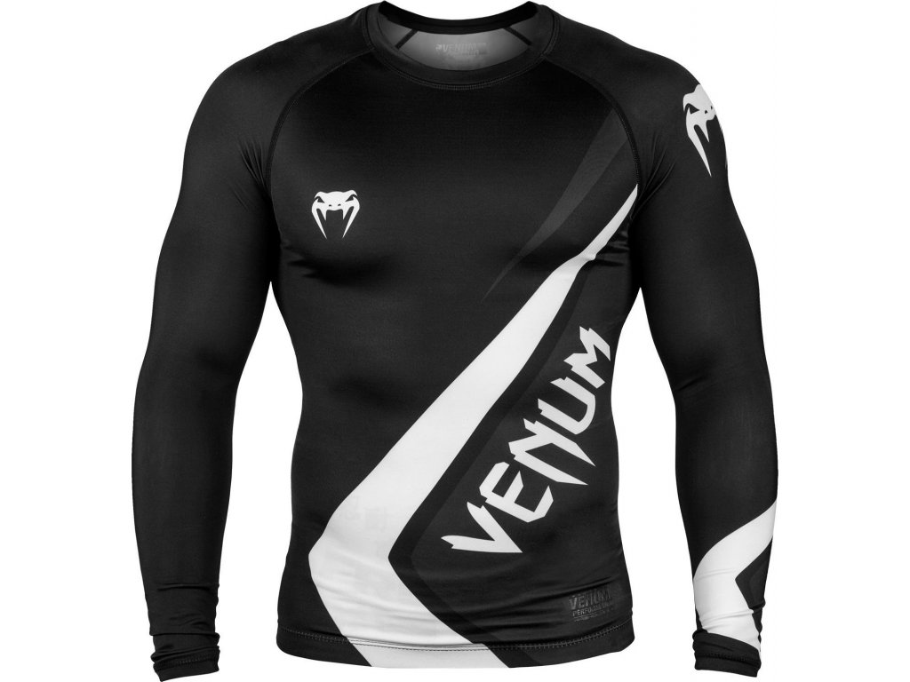 Rashguard Venum Contender 4.0 Long Sleeves - BLACK/GREY-WHITE