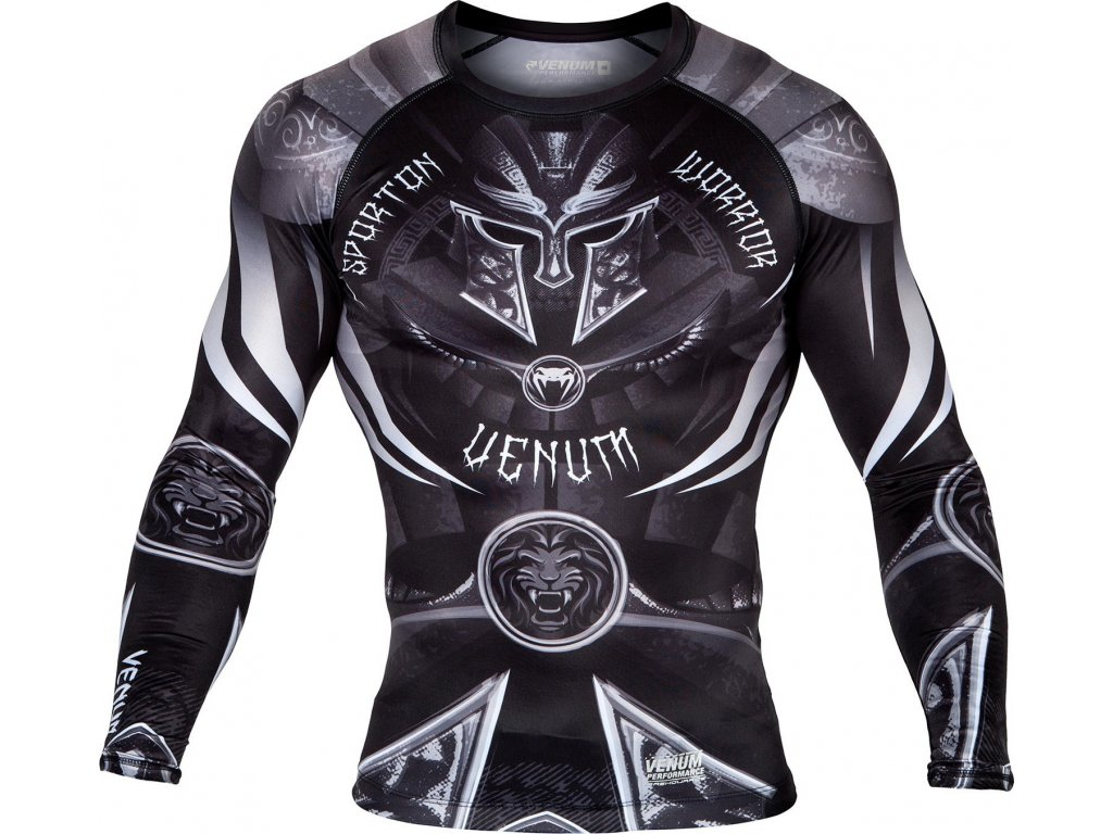 Rashguard Venum Gladiator 3.0 Long Sleeves BLACK/WHITE