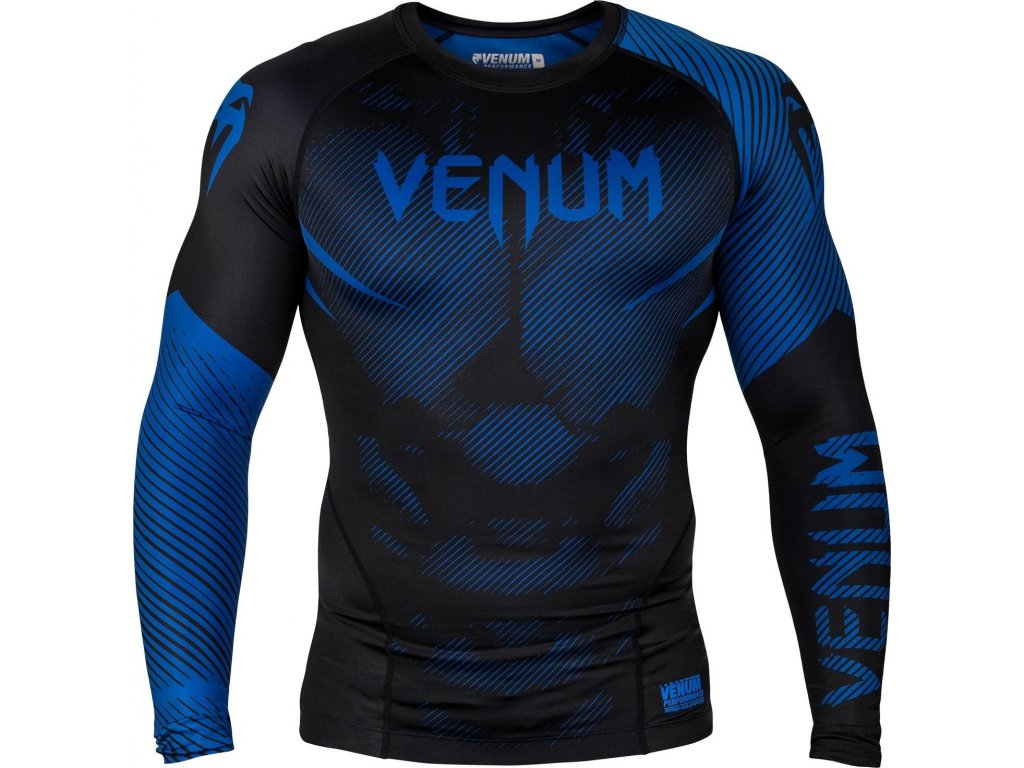 Rashguard Venum NoGi 2.0 Long sleeves - BLACK/BLUE