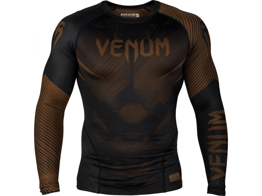 Rashguard Venum NoGi 2.0 Long sleeves -BLACK/BROWN