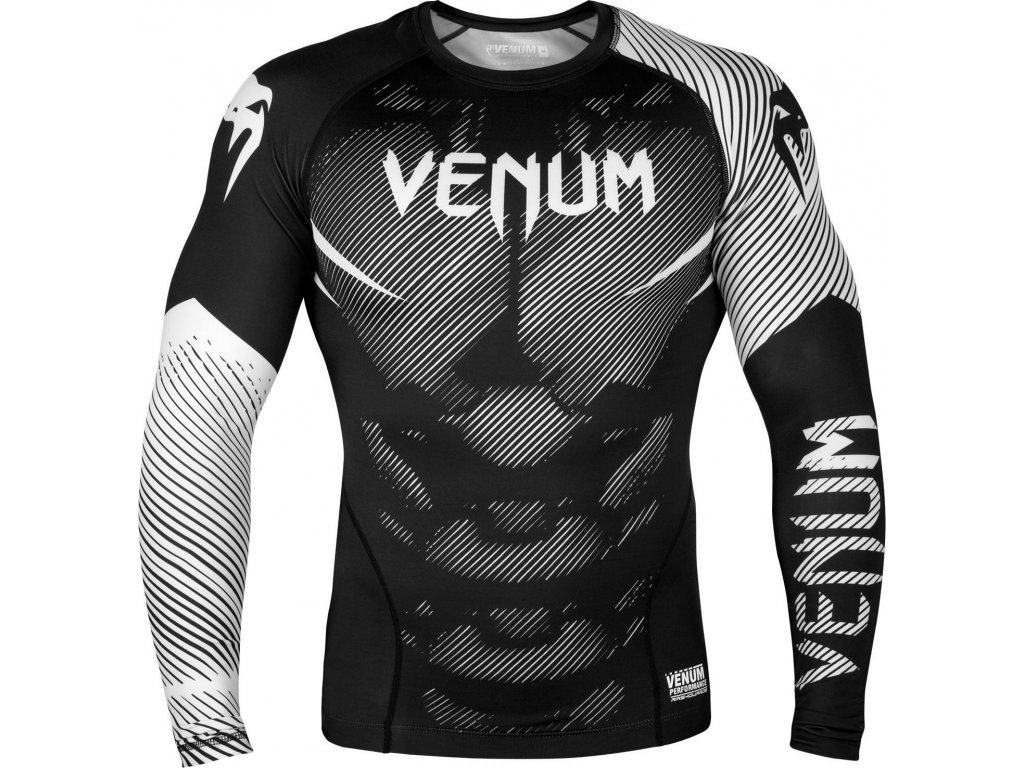 Rashguard Venum NoGi 2.0 Long sleeves - BLACK/WHITE