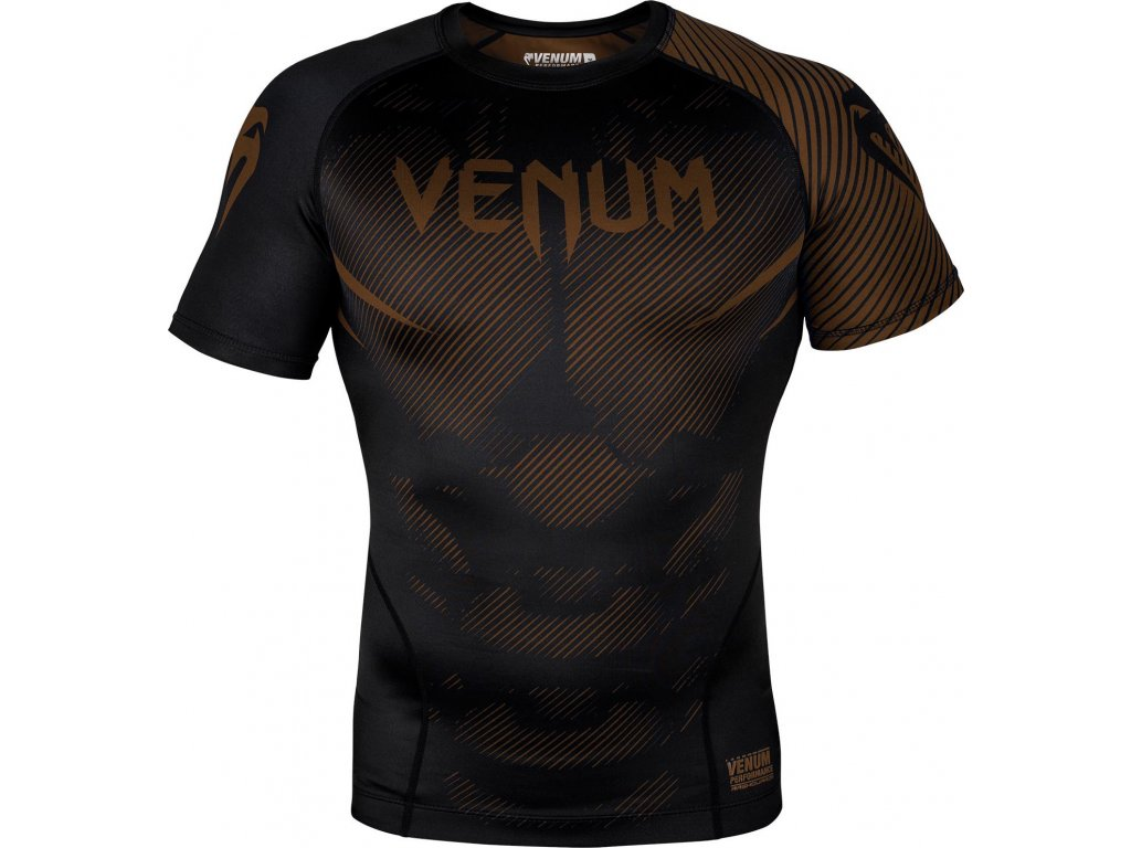 Rashguard Venum NoGi 2.0 Short sleeve - BLACK/BROWN