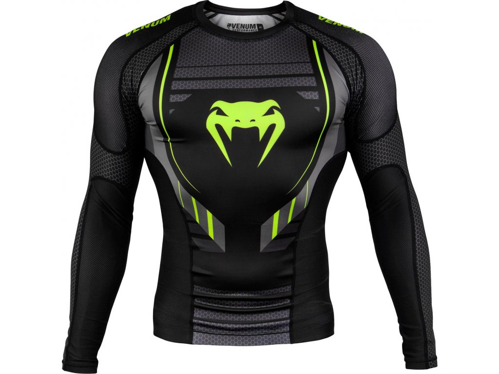 Rashguard Venum Technical 2.0 - Long Sleeves - BLACK/YELLOW