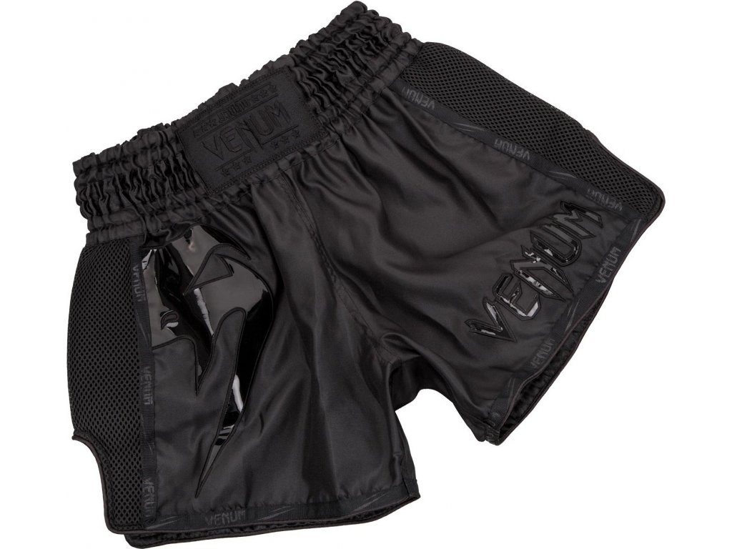 Shorts Venum GIANT Muay Thai - BLACK/BLACK