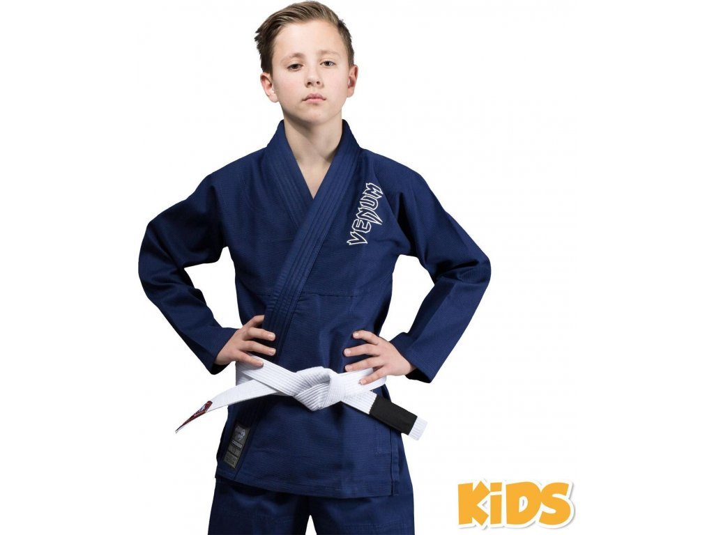 Kids BJJ gi Venum Contender NAVY + white belt