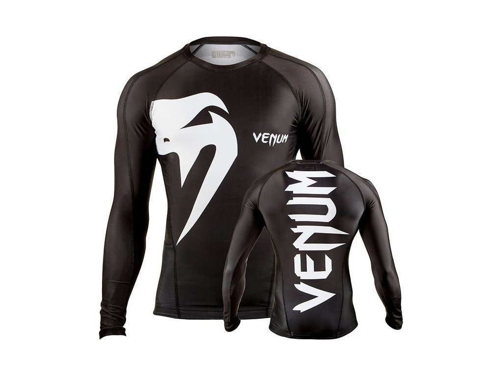 Rashguard Venum Giant - long sleeves - BLACK/WHITE