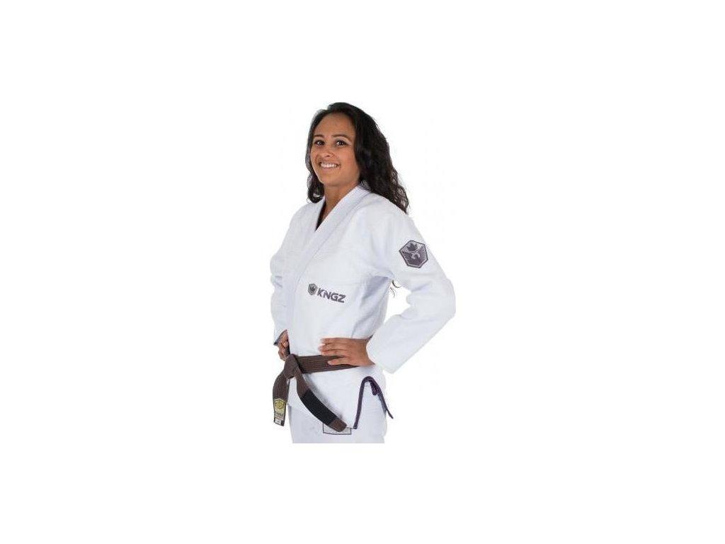 Womens BJJ gi kimono Gi Kingz Balistico 2.0 - WHITE