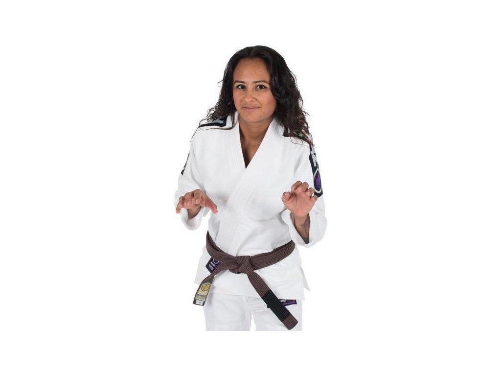 Womens BJJ gi kimono Gi Kingz Basic 2.0 WHITE + FREE WHITE BELT