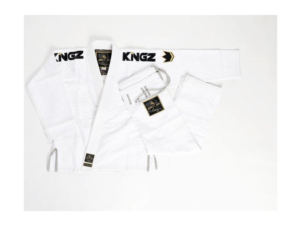 Womens BJJ gi kimono Gi Kingz Comp 450 V5 - WHITE