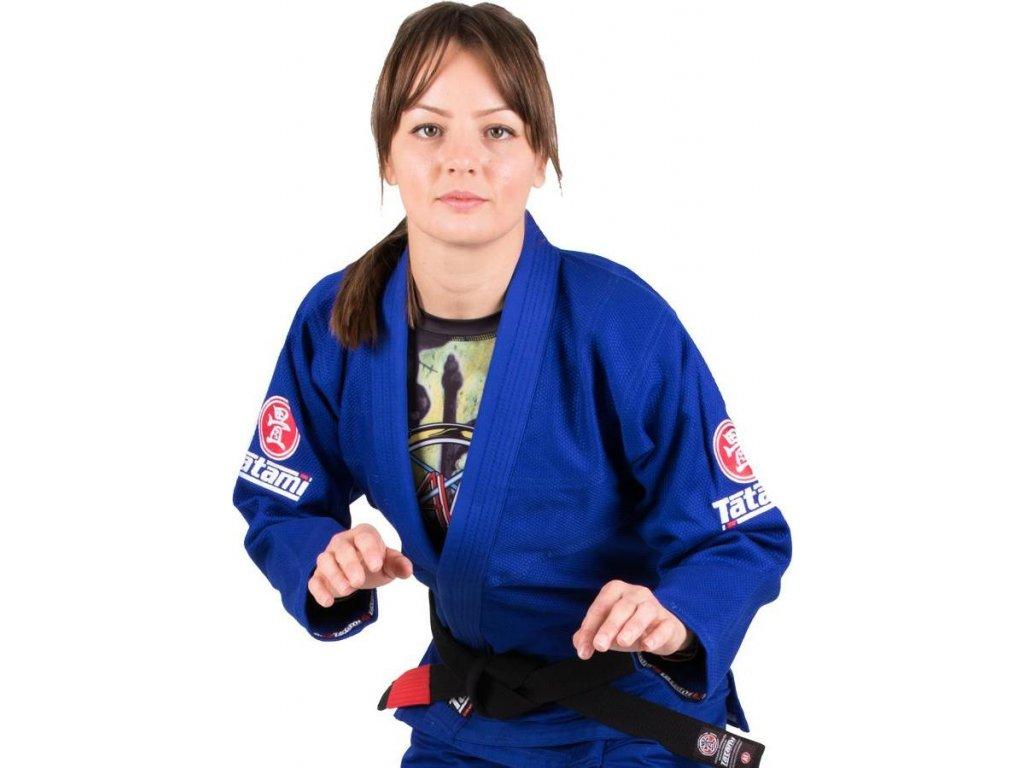 Ladies BJJ gi kimono Tatami Minimo 2.0 gi BLUE + WHITE belt FREE