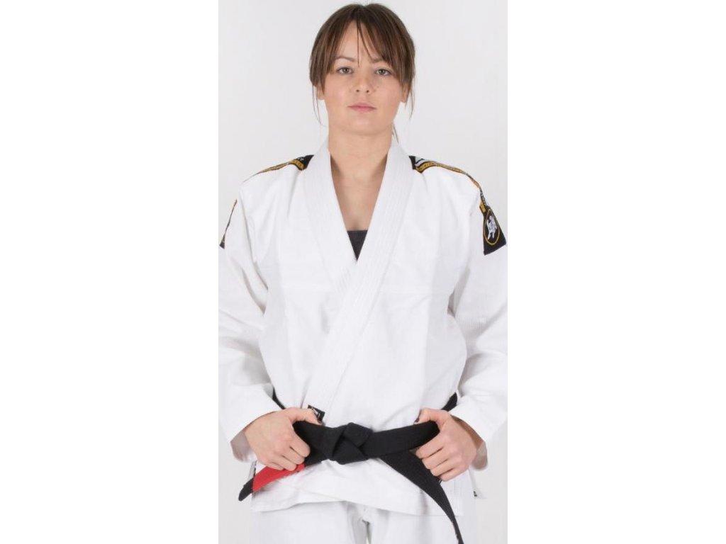 Ladies BJJ gi kimono Tatami Nova Absolute gi WHITE + WHITE belt FREE