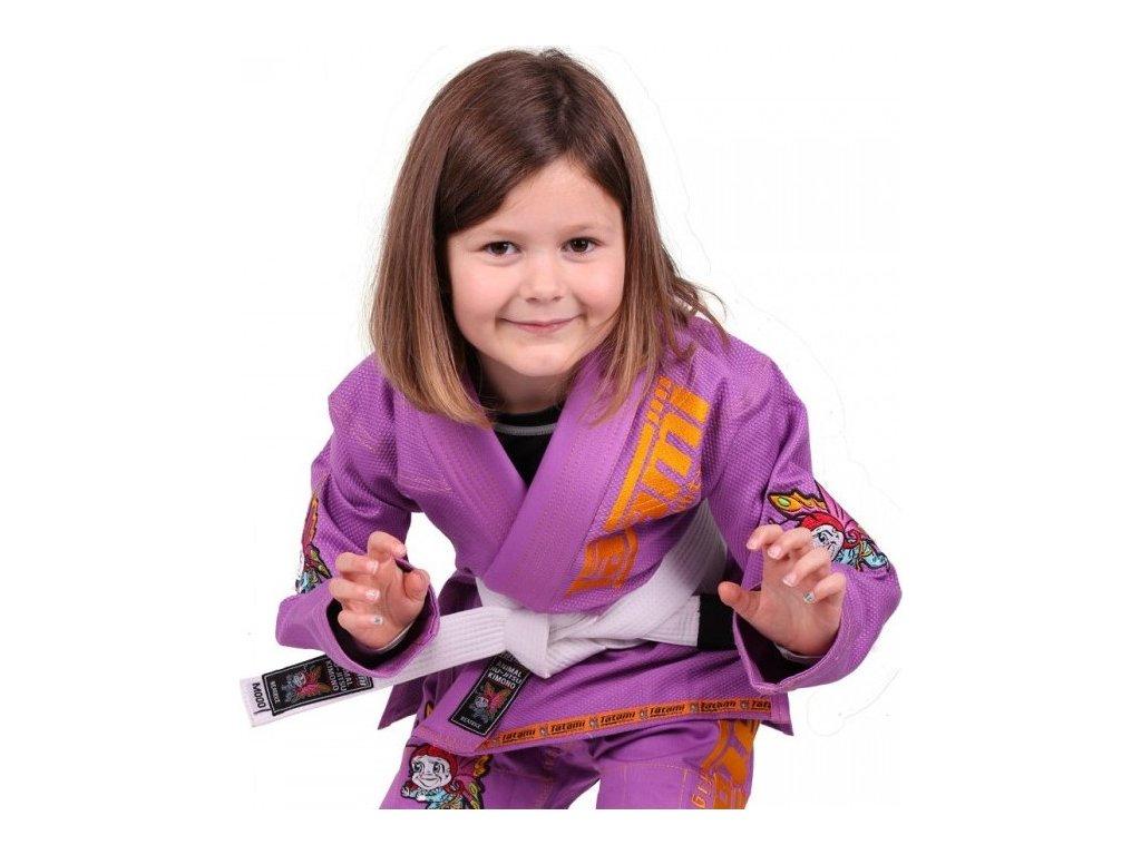 Kids BJJ gi kimono / gi NEW MEERKATSU KIDS ANIMAL - PURPLE - Tatami Fightwear + FREE WHITE BELT