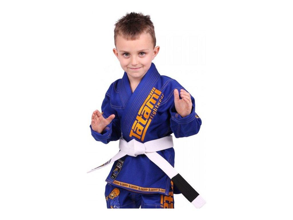 Kids BJJ gi kimono / gi NEW MEERKATSU KIDS ANIMAL - BLUE - Tatami Fightwear + FREE WHITE BELT