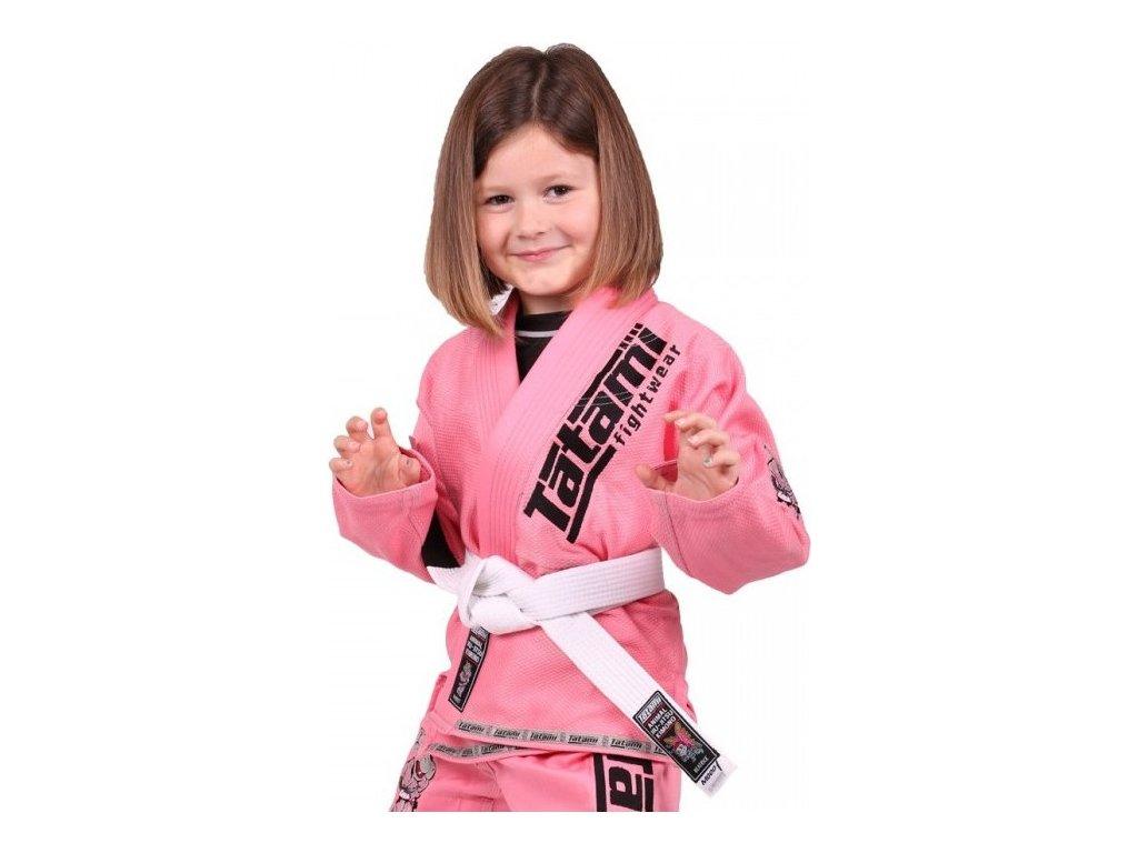 Kids BJJ gi kimono / gi NEW MEERKATSU KIDS ANIMAL - PINK - Tatami Fightwear + FREE WHITE BELT