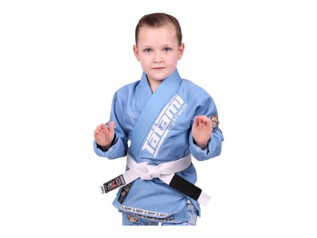 Kids BJJ gi kimono / gi NEW MEERKATSU KIDS ANIMAL - SKY BLUE - Tatami Fightwear + FREE WHITE BELT