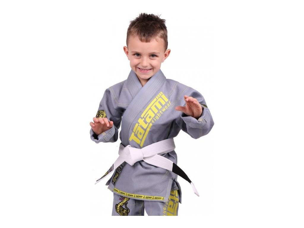 Kids BJJ gi kimono / gi NEW MEERKATSU KIDS ANIMAL - GREY - Tatami Fightwear + FREE WHITE BELT