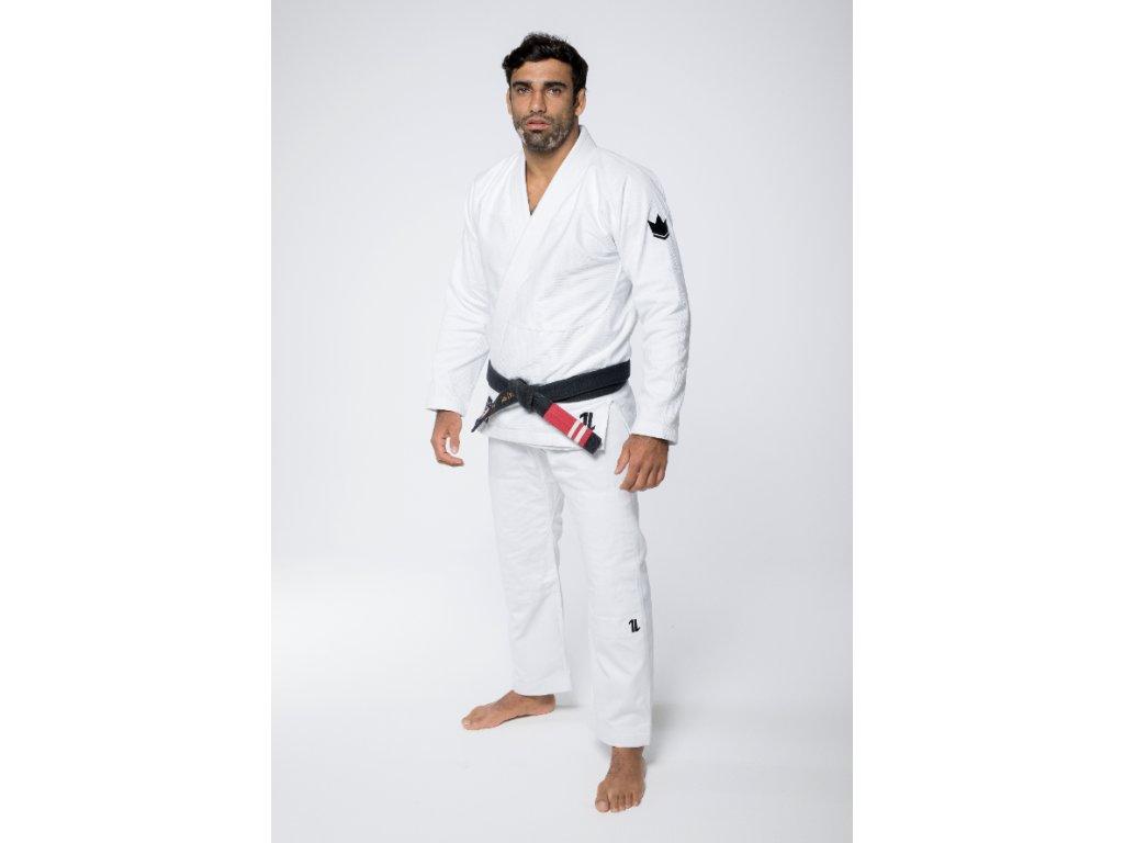 BJJ gi kimono Kingz The One - White + white belt