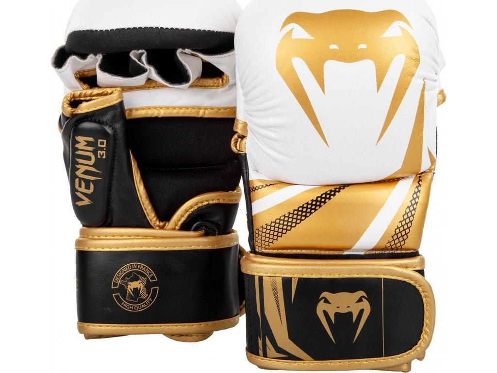 MMA Sparring Gloves Venum Challenger 3.0 - White/Black/Gold