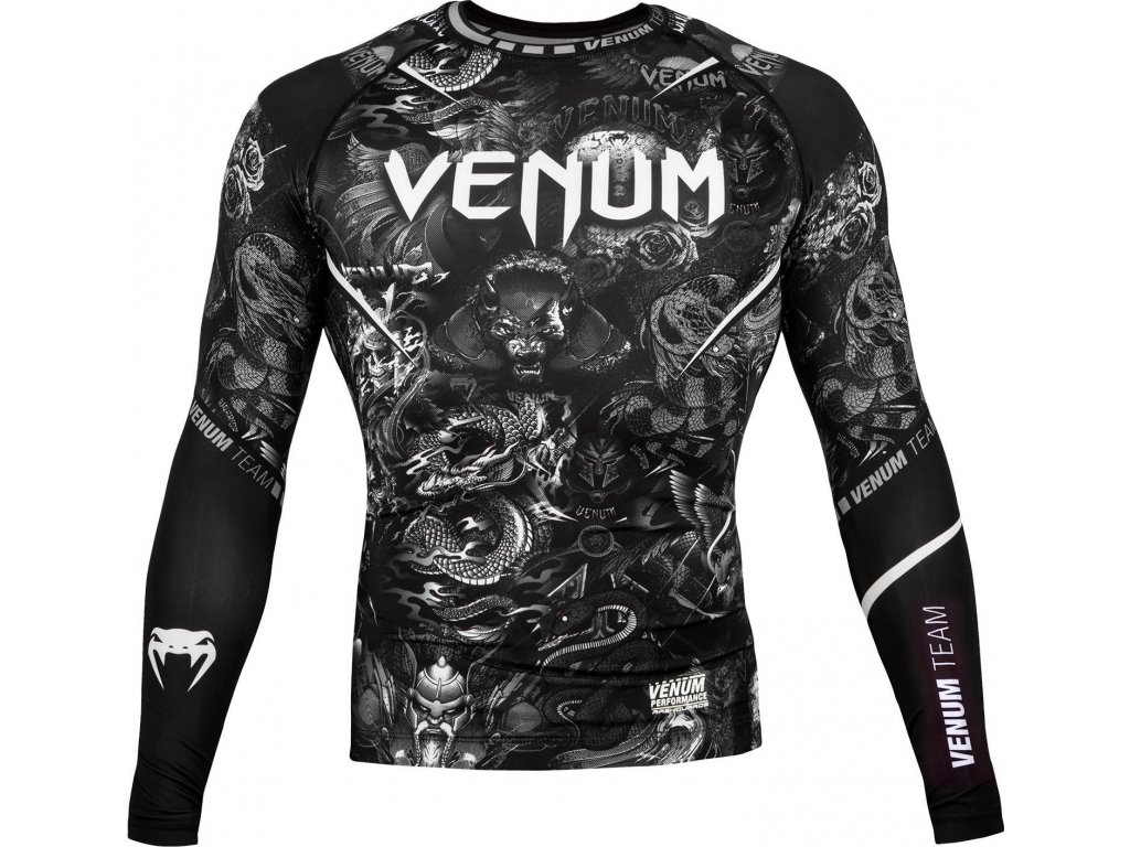 Rashguard Venum ART - Long Sleeves - BLACK/BLACK