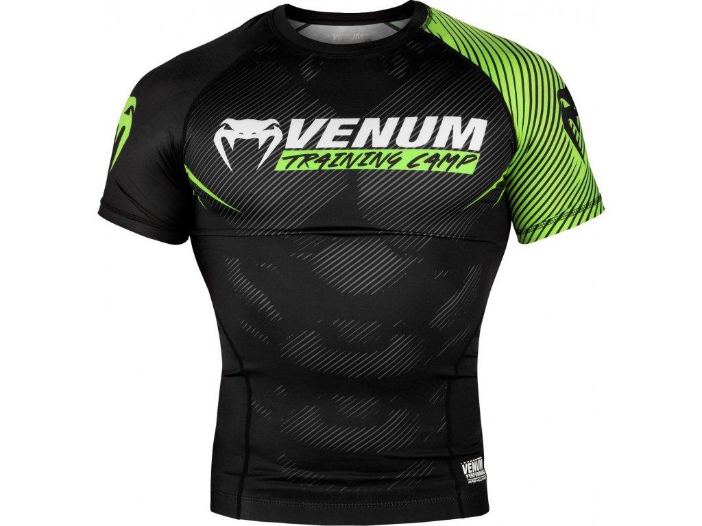 Rashguard Venum Training Camp 2.0 Short Sleeves - BLACK/NEO YELLOW