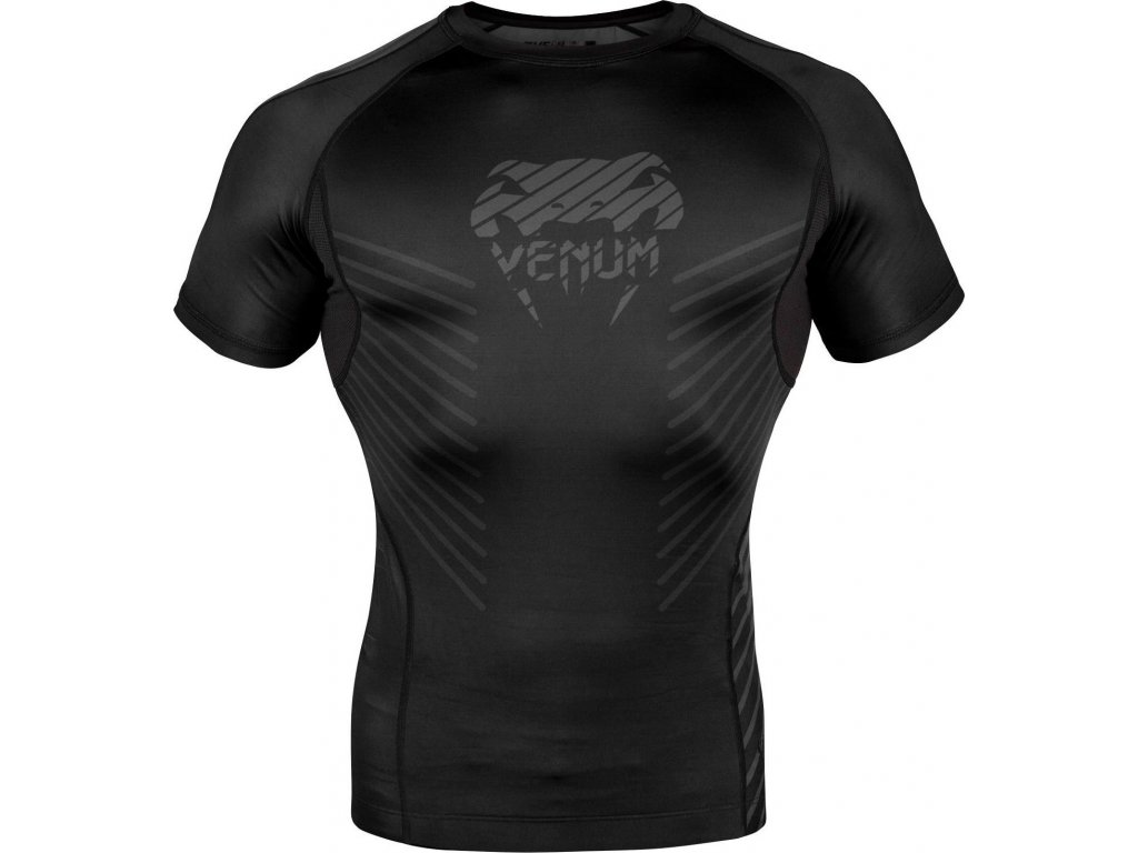 Rashguard Venum Plasma - Short Sleeves - Black/Black