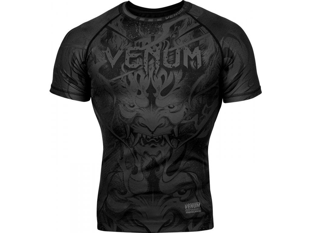 Rashguard Venum Devil - Short Sleeves - Black/Black