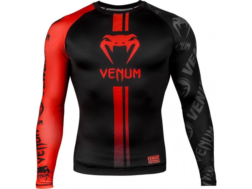 Rashguard Venum Logos - Long Sleeves - Black/Red