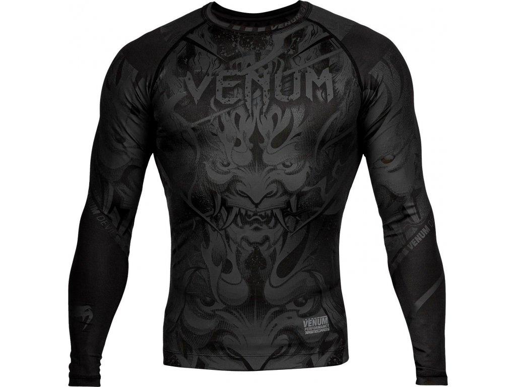 Rashguard Venum Devil - Long Sleeves - Black/Black