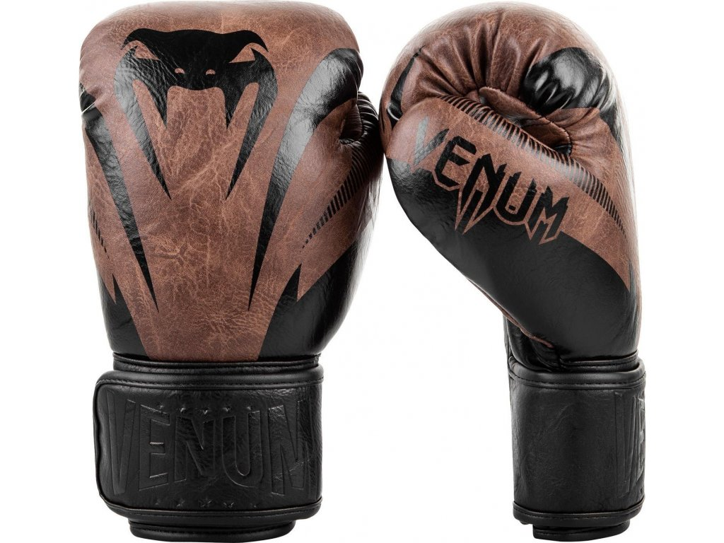 Boxing Gloves Venum Impact - Black/Brown
