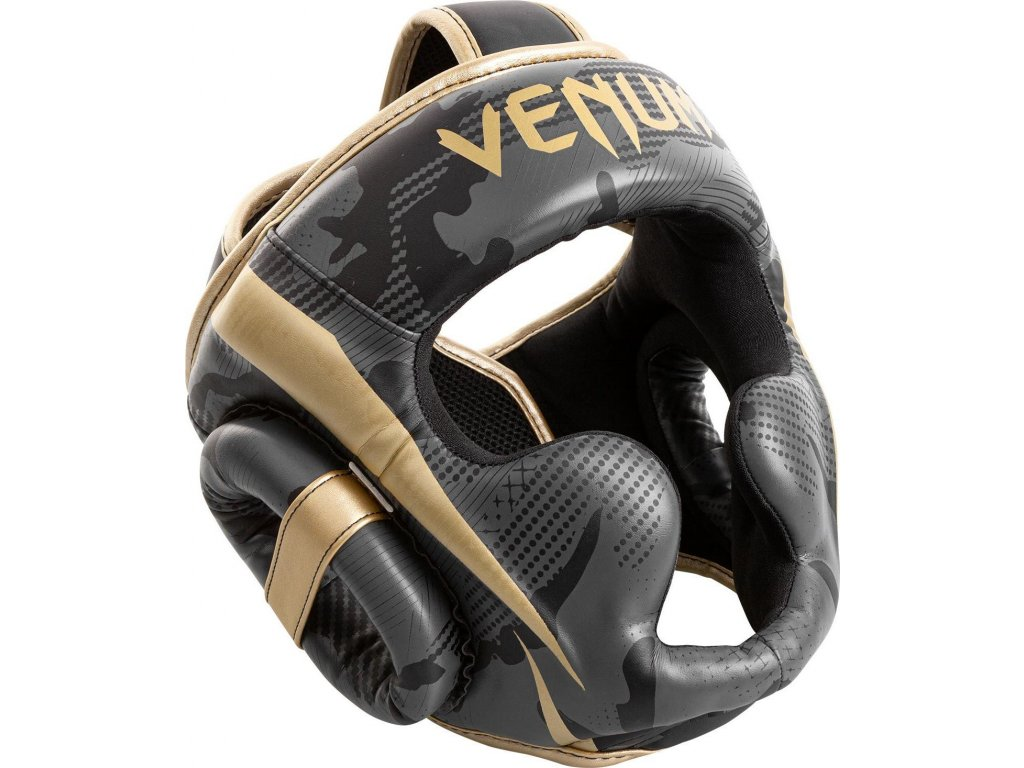 Box/MMA Headgear Venum Elite - Dark Camo/Gold