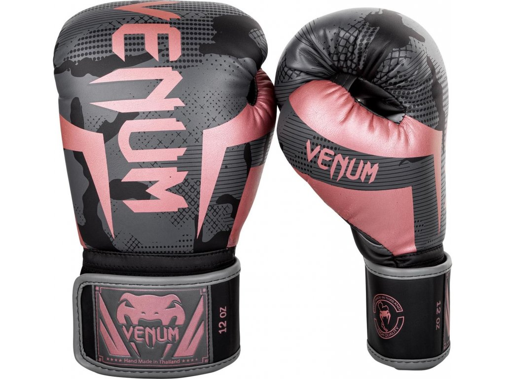 Boxing Gloves Venum Elite - Black/Pink Gold