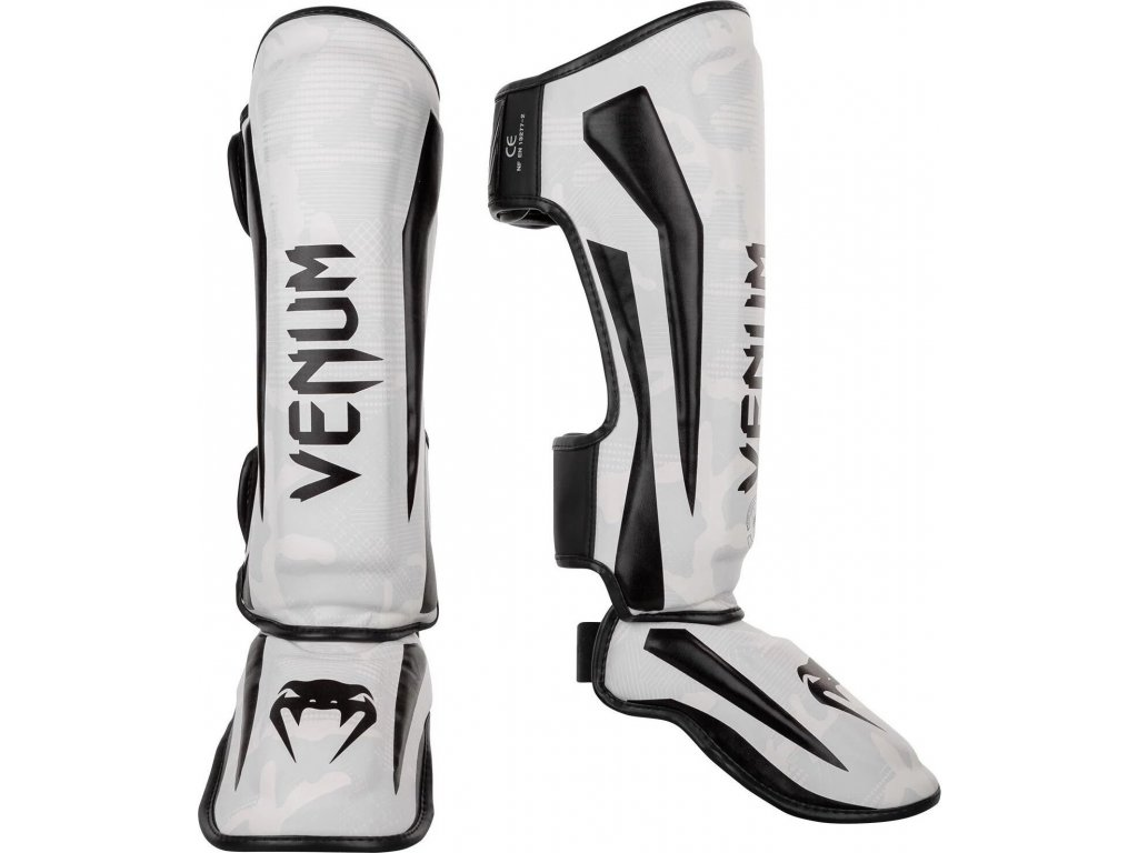 Shin Guard Venum Elite - White/Camo
