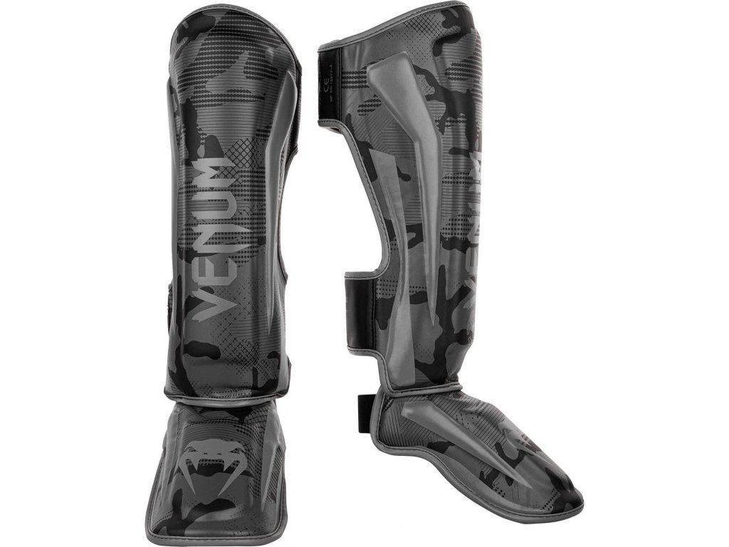Shin Guards Venum Elite - Black/Dark Camo