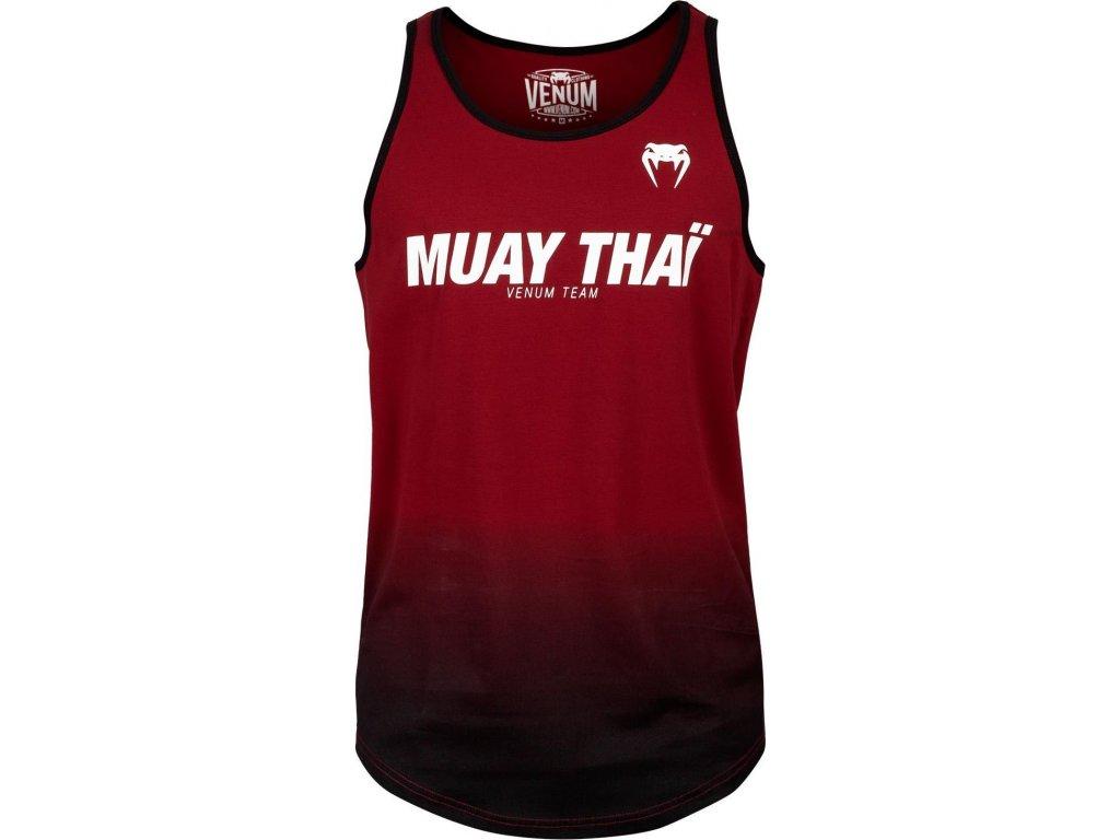 Men's Tank Top Venum Muay Thai VT - Red Wine/Black