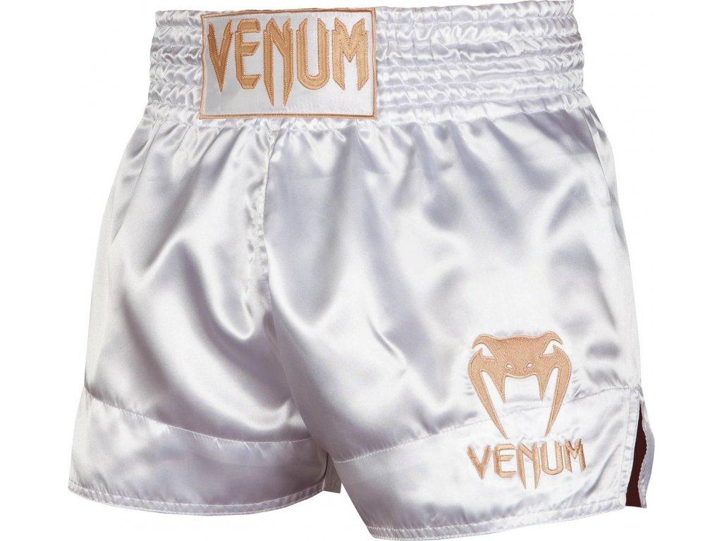 Muay Thai Shorts Venum Classic - White/Gold