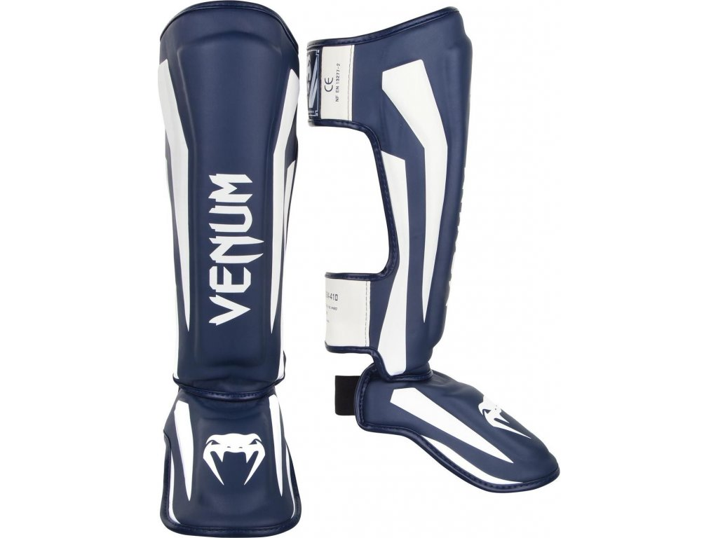 Shin Guards Venum Elite Standup - White/Navy Blue