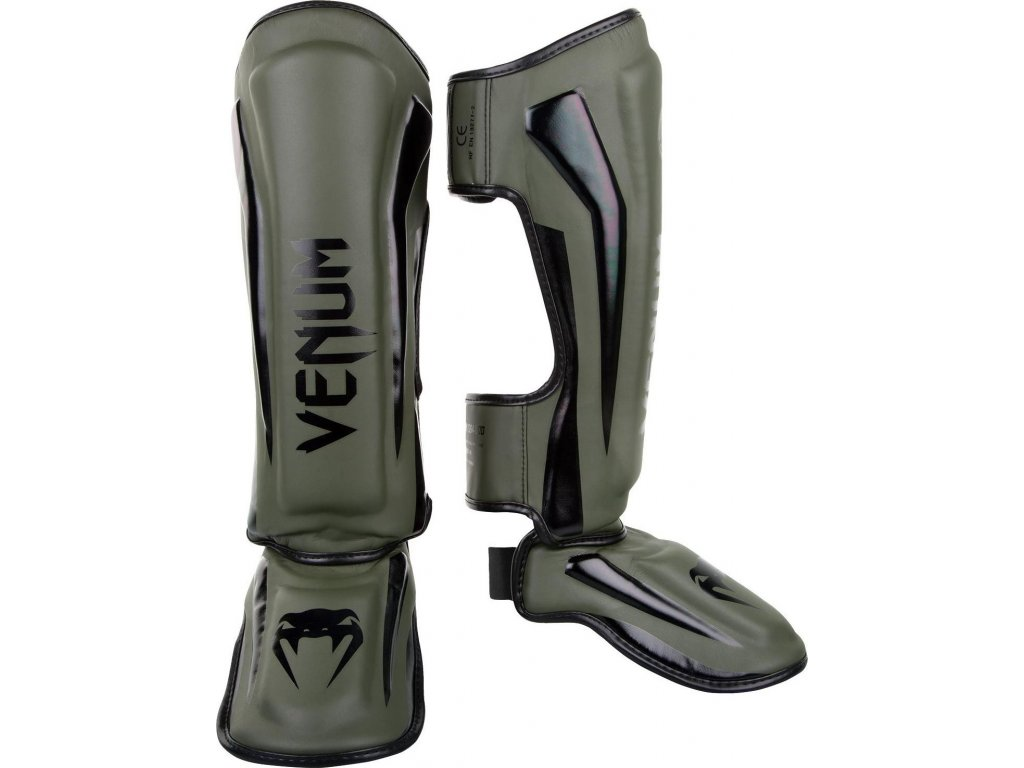 Shin Guards Venum Elite Standup - Khaki/Black