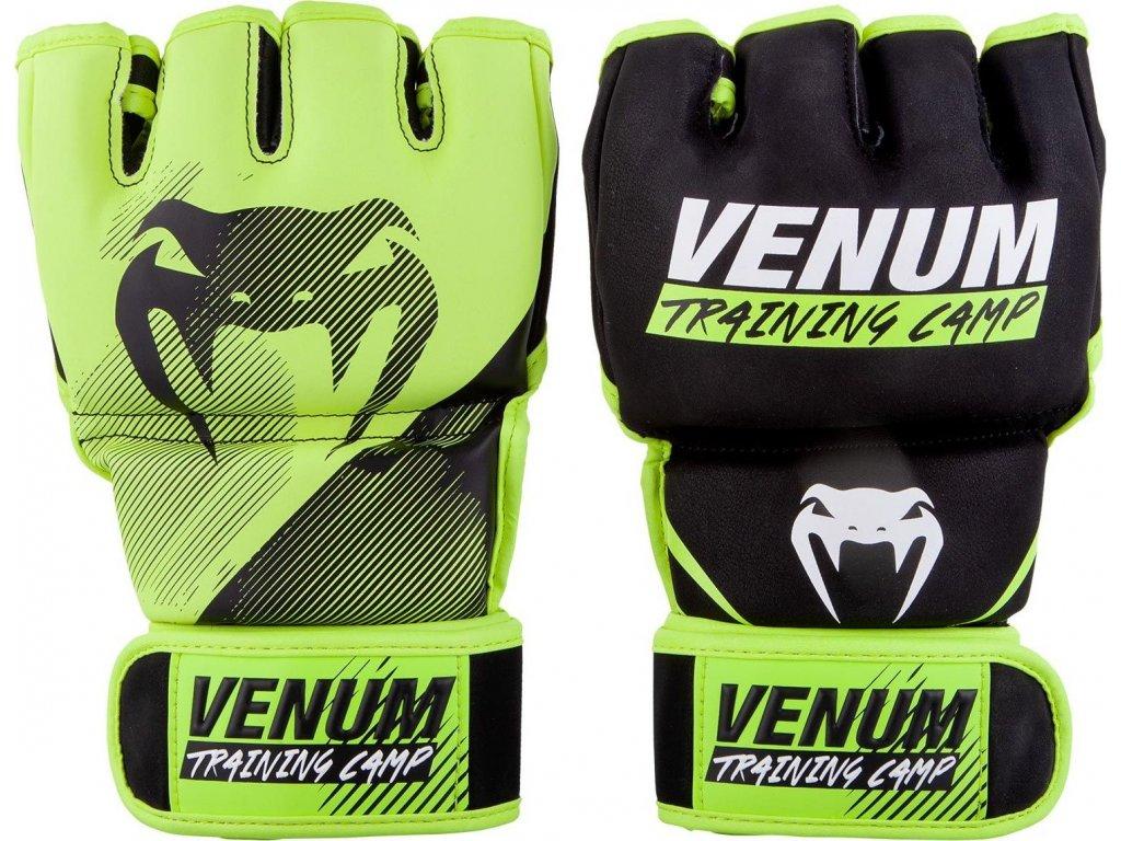 MMA Gloves Venum Training Camp 2.0 - Black/Neo Yellow
