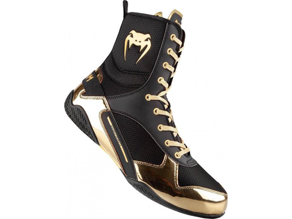 Boxing Shoes Venum Elite - Black/Gold