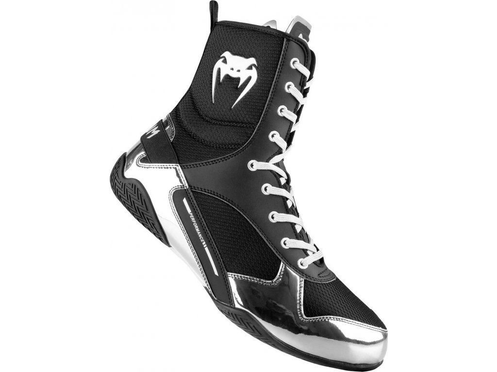 Boxing Shoes Venum Elite - Black/Silver