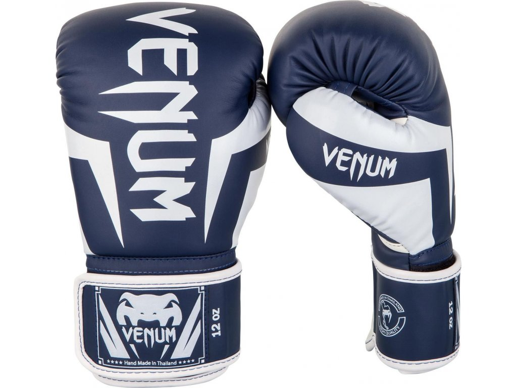 Boxing Gloves Venum Elite - White/Navy Blue