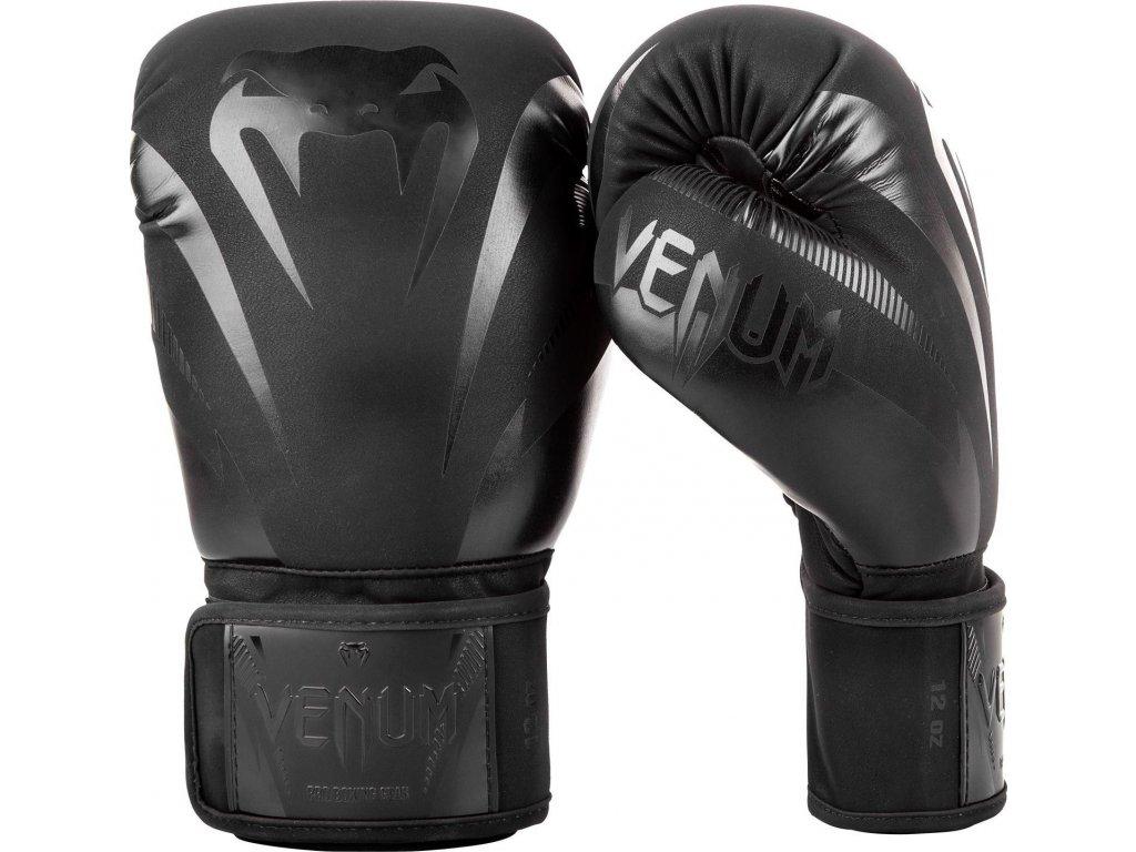 Boxing Gloves Venum Impact - Black/Black