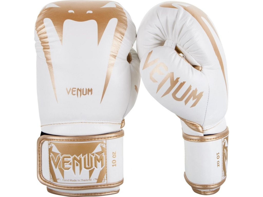 Boxing Gloves Venum Giant 3.0 - Nappa Leather - White/Gold