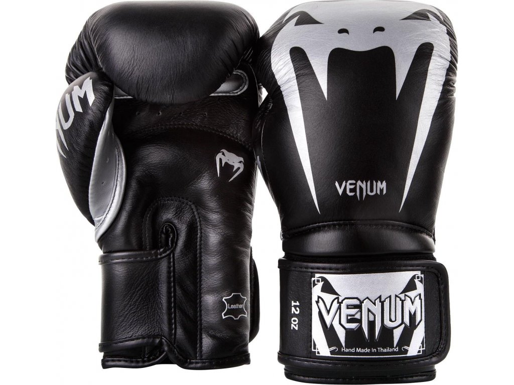 Boxing Gloves Venum Giant 3.0 - Nappa Leather - Black/Silver