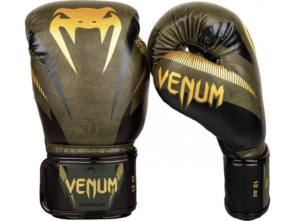 Boxing Gloves Venum Impact - Khaki/Gold