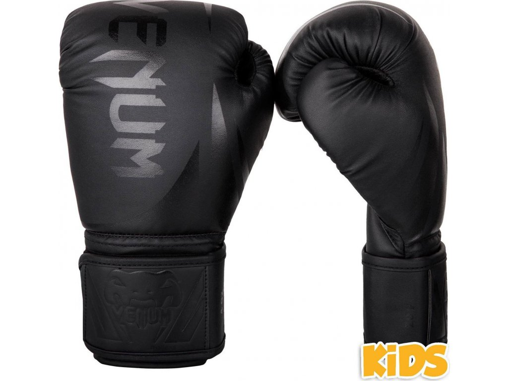 Kids Boxing Gloves Venum Challenger 2.0 - Black/Black